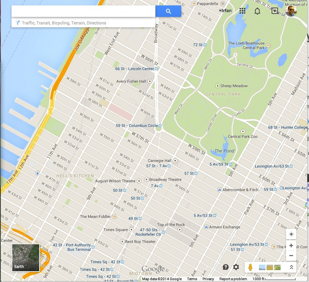 Google Maps is focused on a map.